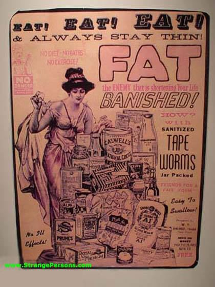 Lose weight by deliberately swallowing a tapeworm!